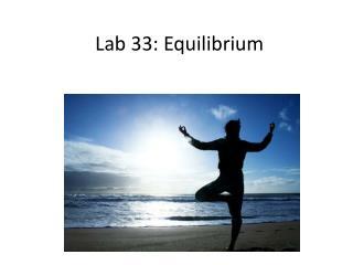Lab 33: Equilibrium