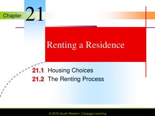 Renting a Residence