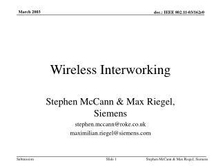 Wireless Interworking