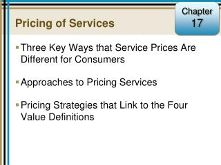 Pricing of Services