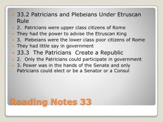 Reading Notes 33