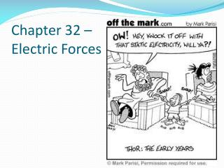 Chapter 32 – Electric Forces