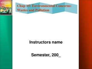 Instructors name Semester, 200_