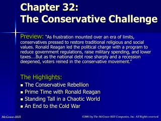 Chapter 32:  The Conservative Challenge