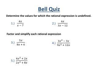 Bell Quiz