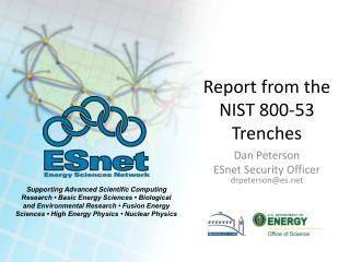 Report from the NIST 800-53 Trenches