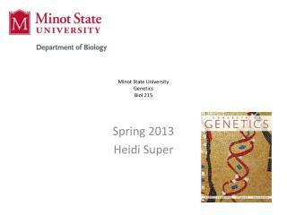 Minot State University Genetics Biol 215