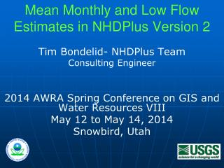 Mean Monthly and Low Flow Estimates in NHDPlus Version 2