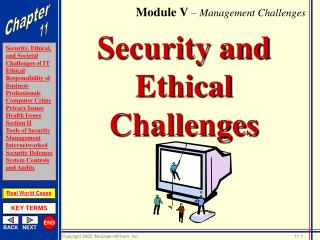 Security and Ethical Challenges