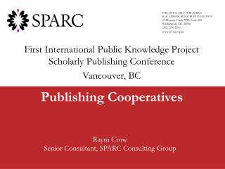 Publishing Cooperatives