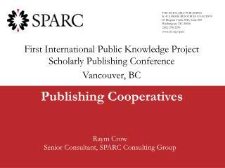 Publishing Cooperatives