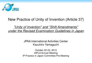 JPAA International Activities Center Kazuhiro Yamaguchi