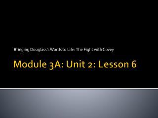 Module 3A: Unit 2: Lesson 6