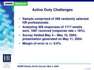 Active Duty Challenges