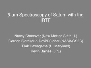 5-µm Spectroscopy of Saturn with the IRTF