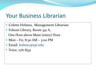 Your Business Librarian