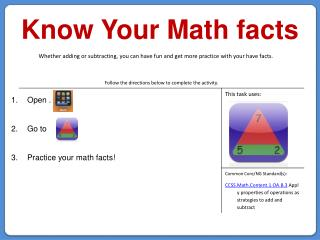 Know Your Math facts