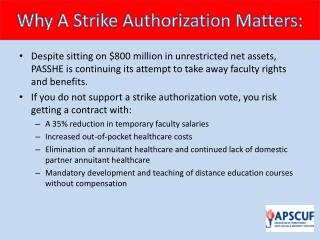 Why A Strike Authorization Matters: