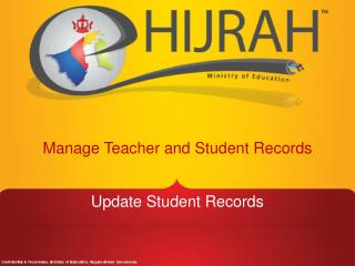 Manage Teacher and Student Records