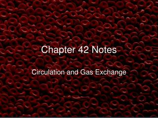 Chapter 42 Notes