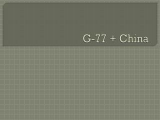 G-77 + China