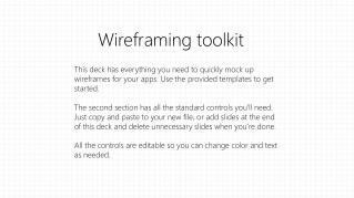 Wireframing  toolkit