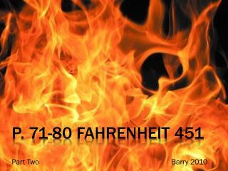 p. 71-80  fahrenheit  451