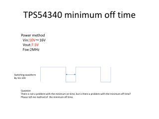 TPS54340 minimum off time