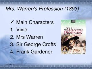 Mrs. Warren's Profession (1893)