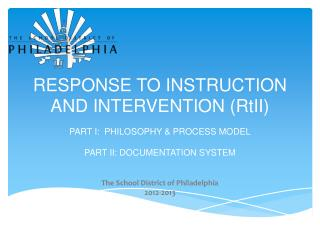 RESPONSE TO INSTRUCTION AND INTERVENTION ( RtII )
