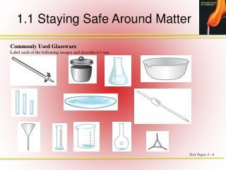 1.1 Staying Safe Around Matter