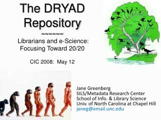 Jane Greenberg SILS/Metadata Research Center School of Info. & Library Science