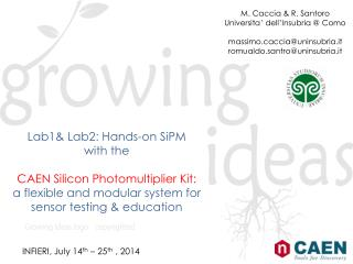 Lab1& Lab2: Hands-on  SiPM with the CAEN Silicon Photomultiplier Kit: