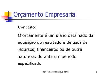 Or amento Empresarial