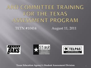 ARD Committee Training for the Texas Assessment Program