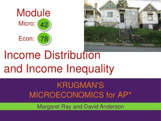 Income Distribution  and Income Inequality