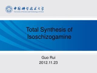 Total Synthesis of Isoschizogamine