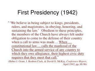 First Presidency (1942)