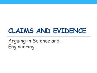 Claims and Evidence