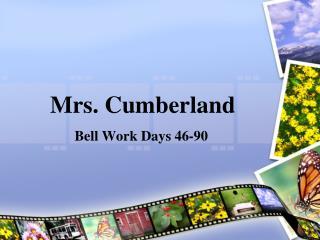 Mrs. Cumberland