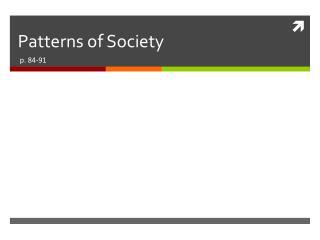 Patterns of Society