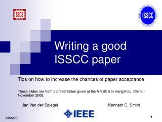 Writing a good ISSCC paper