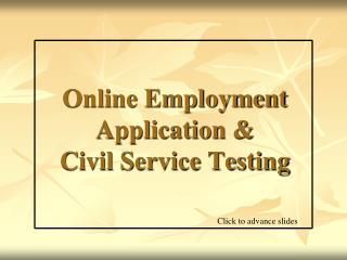 Online Employment Application & Civil Service Testing