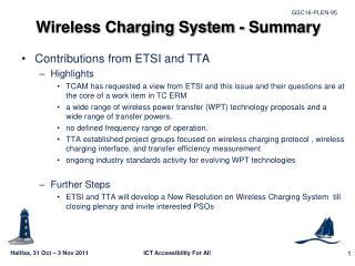 Wireless Charging System - Summary
