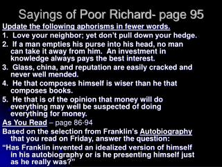 Sayings of Poor Richard- page 95