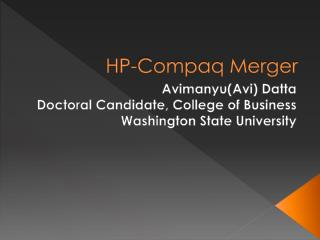 HP-Compaq Merger