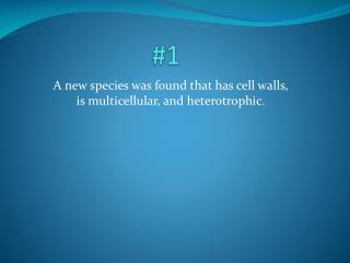 A new species was found that has cell walls, is  multicellular , and heterotrophic.