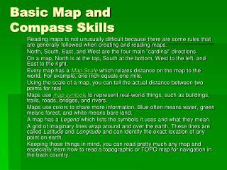 Basic Map and Compass Skills