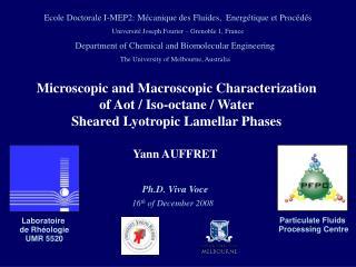 Laboratoire  de Rhéologie UMR 5520