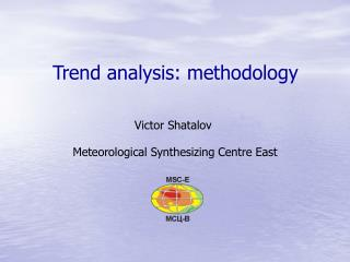 Trend analysis: methodology